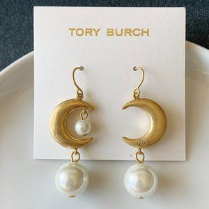 Tory Burch Moon Pearl Earrings